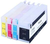 Non-OEM Refillable Ink Cartridge for 711 DesignJet T120 T520 Permanent Chip