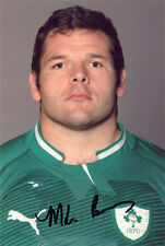 Mike Ross, Ireland rugby union, Leinster, signed 6x4 inch photo. COA.