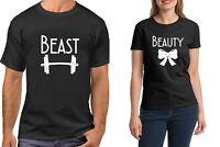 Beast & Beauty Couple Shirts Funny Matching T-Shirts Valentine's Day Anniversary