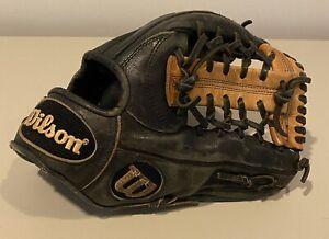 "Wilson A2000 1782 PRO STOCK 11.5"" Baseball Glove Black Body Tan I Web Right hand"