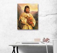 Jesus & Lamb Shepherd Abstract Art Poster Print Canvas Painting Home Wall Decor