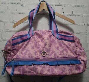 Ivivva by Lululemon Pink Purple & Periwinkle Duffel Sports Gym Bag