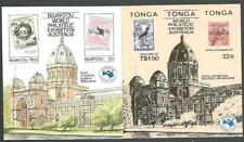 TONGA 1984 Ausipex - pair souvenir sheets optd SPECIMEN....................64878