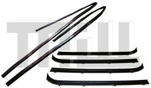 Inner Outer & Window Channel Weatherstrip Kit L & R Side for 75-95 Chevy Vans