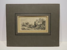 Anthonie Waterloo c.1600s Old Master antique landscape engraving French artist