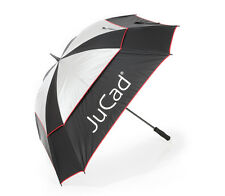 JuCad ® Regenschirm Windproof schwarz/silber/rot NEU VK: 95,-