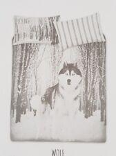 WOLF KING SIZE DUVET COVER/CHRISTMAS-WINTER BEDDING SET-2 PILLOWCASE-PRIMARK