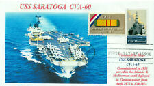 USS SARATOGA CVA-60 Vietnam War Aircraft Carrier ColorPhoto First Day of Issue