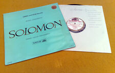 "GRIEG & SCHUMANN PIANO CONCERTOS "" SOLOMON ""SUPER STEREO WHITE GOLD UK ASD 272"