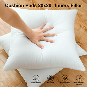 Pack of 2 Extra Deep Filled 20x20 Inches Cushion Pads Inserts Fillers Scatters