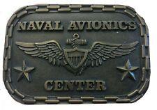 Vtg Naval Avionics Center Belt Buckle USN Pilot Navy Military Veteran War Mens