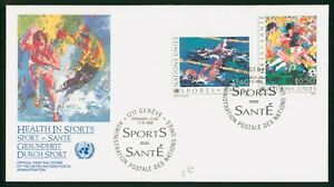 Mayfairstamps United Nations FDC 1988 Sports Painting Combo First Day Cover wwp_