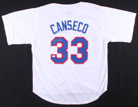 Jose Canseco Texas Rangers Signed Baseball Jersey JSA COA Authenticate Autograph