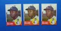 Lot of (3) 1963 Topps JIM GILLIAM cards #80 Dodgers