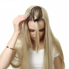 U-Part Clip In Hair Extension Straight Wavy Ombre One Piece Long Synthetic Hairs