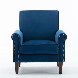 Morden Fort Accent Chair, Velvet Upholstered Arm Chair for Living room