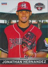 2016 Hickory Crawdads Jonathan Hernandez Rookie Card Rangers