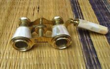 Brass Antique Binocular Mother of Pearl Lorgnette Binocular