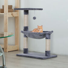 More details for cat tree scratching posts  natural sisal hammock bed kitty activity center 70hcm