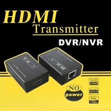 30m Wired HDMI Transmitter Receiver HD 1080P Splitter Adapter for CCTV DVR NVR