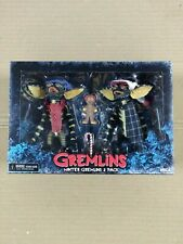 """Gremlins 7"""" Scale Christmas Carol Winter Scene 2 Pack Whole Gingerbread Man NEW"""