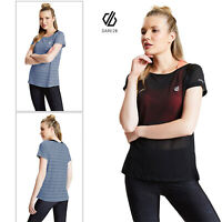 Dare 2B Womens Defy Quick Dry Anti-Bacterial Stretch Workout Gym Tee T-Shirt Top