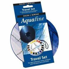 Daler Rowney Watercolour Aquafine Travel Tin - Set 18 Half Pan Round