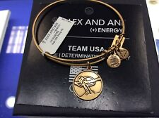 Alex and Ani Team USA Skier Bangle Bracelet Gold NWT