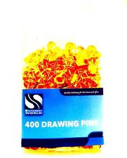 400pc Drawing Pin Pack ~HIGH QUALITY~ Brass Flat Head Thumb Tack Push Map Notice