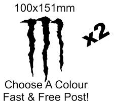Monster energy logo sticker decal car van bike funny x2