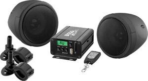 BOSS AUDIO 600 WATT 2 SPEAKER SOUND SYSTEM BLACK YAMAHA MOTORCYCLES ALL