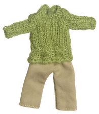 Girls Jumper & Trousers Set Dolls House Clothing Miniature