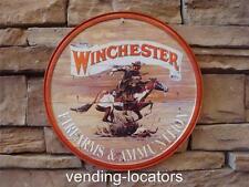 Winchester Firearms Ammunition Metal Sign Gun Ammo Rifle Automatic Pistol Safe