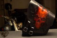 Satteltasche Totenkopf V2 Softail Harley Bobber Chopper Custom Saddlebag Fatboy