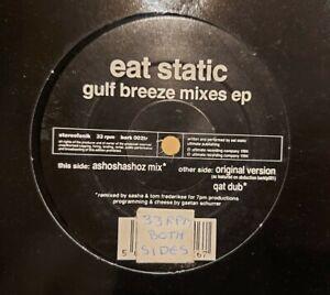 EAT STATIC - GULF BREEZE REMIXES EP BARK 002TR PLANET DOG 1994 SASHA MIXES VG+!