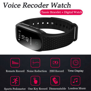 Spy Recorder Mini Watch Voice Activated Device Wristband Music Player 8GB/16GB