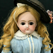 Early Kestner French-Mkt Closed-Mouth Lady Body Turned Shoulder-Head Doll Bisque