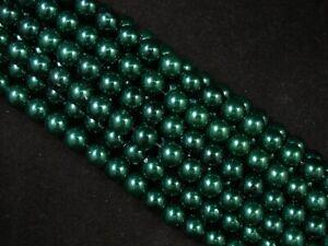 Magnetic Hematite Green 8mm Round Beads 40cm Strand Jewellery FREE POSTAGE