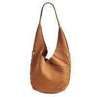 Hammitt Tom Tan Hobo Leather Bag Purse Brown Gold Slouchy Nubuck Handbag NEW
