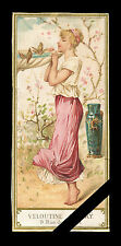 Antique French Perfume Label - Trade Card - Rare Ch. Fay Veloutine - Paris