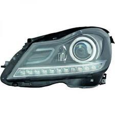 Scheinwerfer Set für Mercedes C-Klasse W204 11-14 Klarglas/Schwarz LED