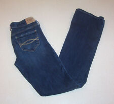 Women's Abercrombe & Fitch New York Low Rise Boot Cut Blue Denim Jeans 0 Regular