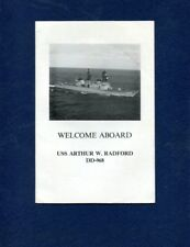 Dd 968 Uss Arthur W Radford Welcome Aboard Booklet Us Navy Ship Pamphlet