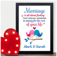 Funny Valentines Day Personalised Gifts for Couples Her Him Wife Husband Mr Mrs