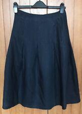 John Lewis Pure Linen Full Skirt, Navy, UK 10, BNWT, RRP £55