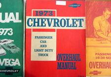 1973 CHEVROLET OVERHAUL MANUAL PASSENGERS CARS + LIGHT DUTY TRUCKS