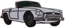 MG MGB Chrome bumper car cut out lapel pin  - White