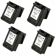 4x HP 901XL Black CC654A 22ml Reman Ink Cart 50% More Ink OfficeJet 4500 J4524