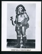 Chief Billy White Wolf Wrestling Champion circa 1970's Promo Photo Wrestler