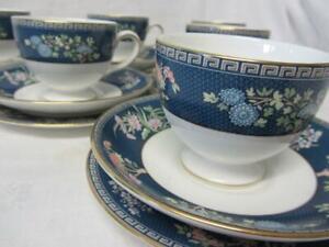 Eighteen Piece Wedgwood Blue Siam Tea Set (unused)